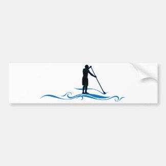 Levántese la paleta - ondas pegatina de parachoque