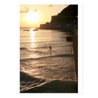 Levántese la puesta del sol San Sebastián del Tarjeta Postal