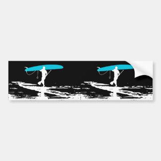 Levántese la sesión de Paddleboarding sobre (2 enc Pegatina De Parachoque