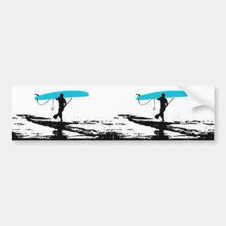Levántese la sesión de Paddleboarding sobre (2 par Etiqueta De Parachoque
