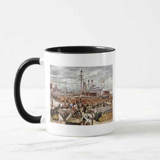 Levee at Canal Street New Orleans 1900 Mug