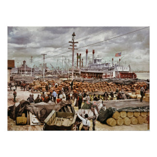 Levee at Canal Street New Orleans 1900 Posters