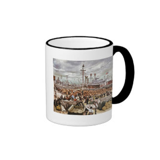 Levee at Canal Street New Orleans 1900 Ringer Mug