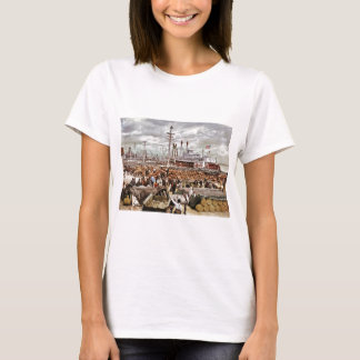 Levee at Canal Street New Orleans 1900 T-Shirt