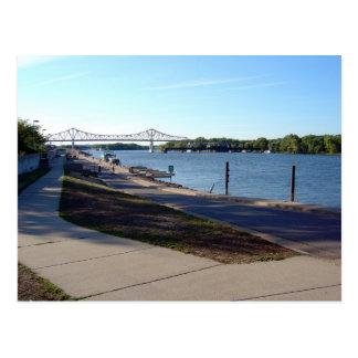 Levee - Winona, MN Postcard
