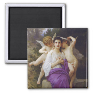 Leveil Heart by William-Adolphe Bouguereau 2 Inch Square Magnet