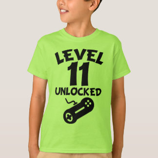 Level 11 Unlocked Video Games 11th Birthday T-Shir T-Shirt