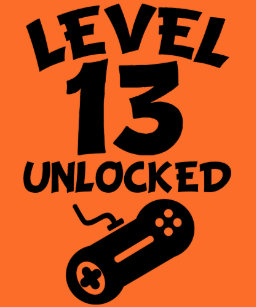 Level 13 Unlocked Video Games 13th Birthday T Shirt