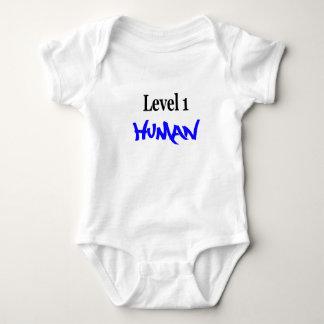 Level 1 Human -boy/blue Baby Bodysuit