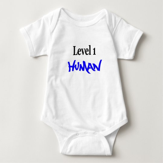 Level 1 Human -boy/blue Baby Bodysuit