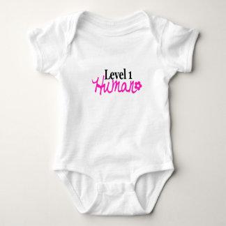 Level 1 Human -girl/pink Tee Shirt