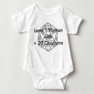 Level 1 Human with +20 Charisma Baby Bodysuit