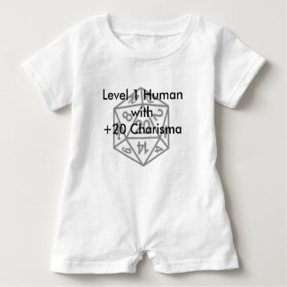 Level 1 Human with +20 Charisma Baby Romper