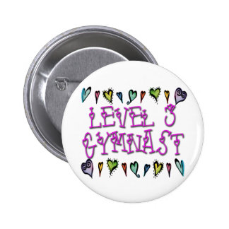 Level 3 Gymnast hearts Pinback Button