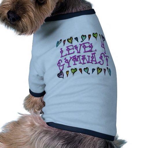 Level 4 Gymnast hearts Doggie T-shirt