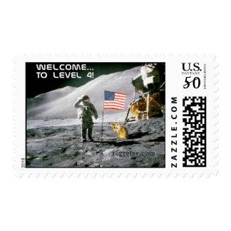 Level 4 Moon Landing Stamp