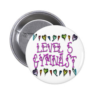 Level 5 Gymnast Pinback Button