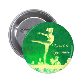 Level 6 Gymnast Button