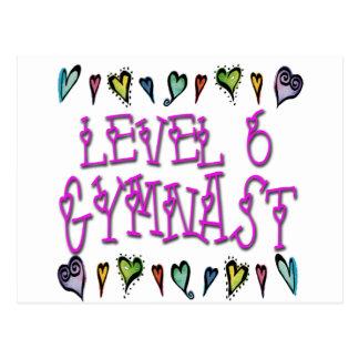 Level 6 Gymnast Postcard