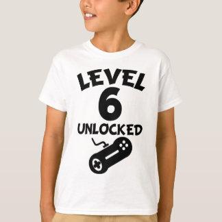 Level 6 Unlocked Video Games 6th Birthday T-Shirt