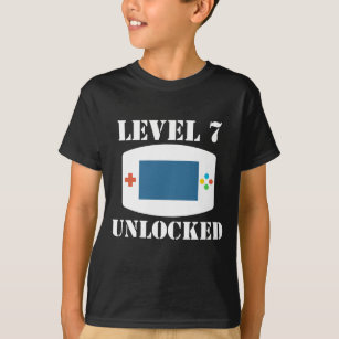 Level 7 Unlocked Video Games 7th Birthday T Shirt