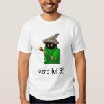 Level 99 Wizard Pixel Art - Green T-Shirt