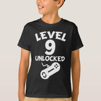 Level 9 Unlocked Video Games 9th Birthday T-Shirt