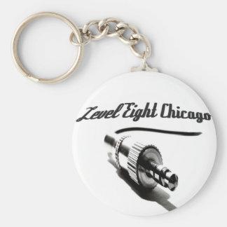 Level Eight Chicago Keychain