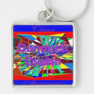 LEVEL OF PAIN 26 OCT. 08, Chiari Silver-Colored Square Keychain