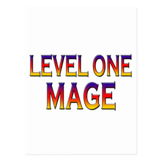 Level one mage postcard