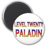 Level twenty paladin fridge magnets
