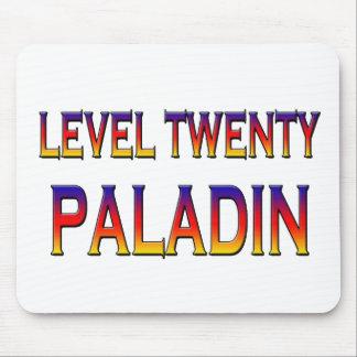 Level twenty paladin mouse pad
