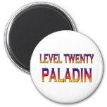Level twenty paladin refrigerator magnet