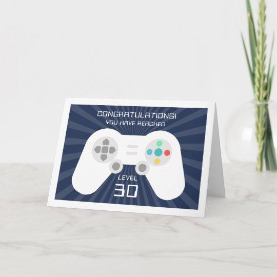 Level Up Custom Age Gamer Birthday Card Zazzle