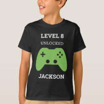 Level Up Gamer Video Game Controller Birthday Kids T-Shirt