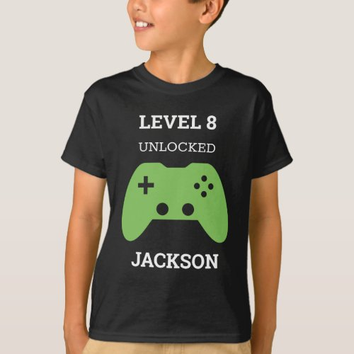 Level Up Gamer Video Game Controller Birthday Kids T_Shirt