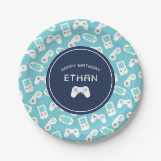 Level Up | Personalized Birthday Party Paper Plate