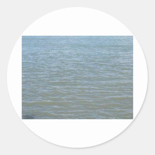 Levemente tajar el océano la Onda-Florida Pegatina Redonda