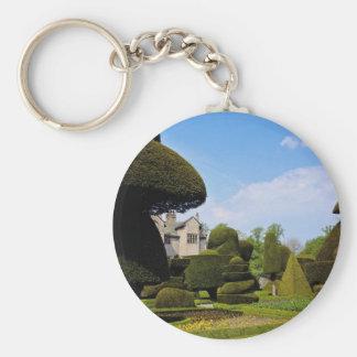 Levens Hall, topiary garden, Cumbria, England Key Chain