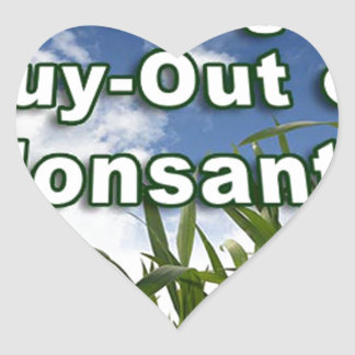 Leveraged Buy-out of Monsanto A3 Heart Sticker