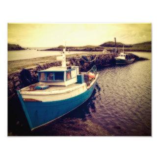 Leverburgh Harbour, Outer Hebrides Photo Print