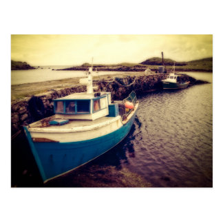 Leverburgh Harbour, Outer Hebrides Postcard