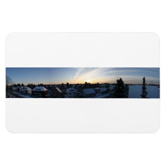 Leverkusen Winter Panorama Dawn Magnet