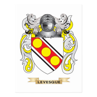 Levesque Coat of Arms (Family Crest) Postcard