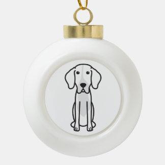 Levesque Dog Cartoon Ceramic Ball Christmas Ornament