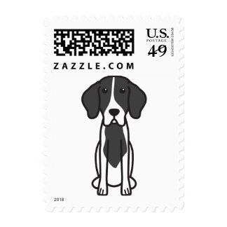 Levesque Dog Cartoon Postage Stamps