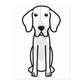 Levesque Dog Cartoon Postcard