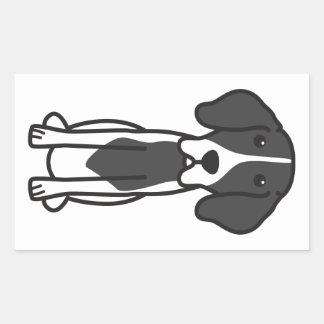 Levesque Dog Cartoon Rectangular Sticker
