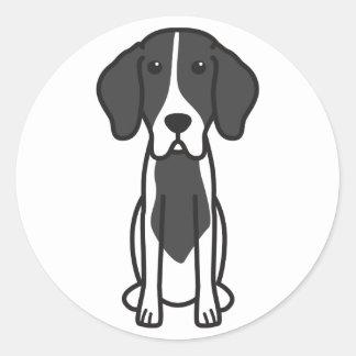 Levesque Dog Cartoon Classic Round Sticker
