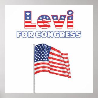 Levi for Congress Patriotic American Flag Design Poster